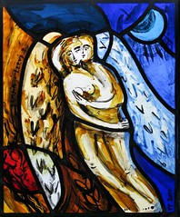 Lovers (Tomasz Tuszko) Tags: love couple stainedglass lovers angels vitrail embrace witra glasmelerei