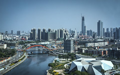Tianjin from Tianjin Eye (Sarmu) Tags: china city bridge wallpaper urban building skyline architecture skyscraper river highresolution downtown cityscape view skyscrapers widescreen 1600 highdefinition resolution ferriswheel 1200 cbd hd wallpapers  tianjin hdr 1920 vantage 2010 vantagepoint ws  1080 1050 720p 1080p urbanity hairiver 1680 720 2560  haihe sarmu tianjineye