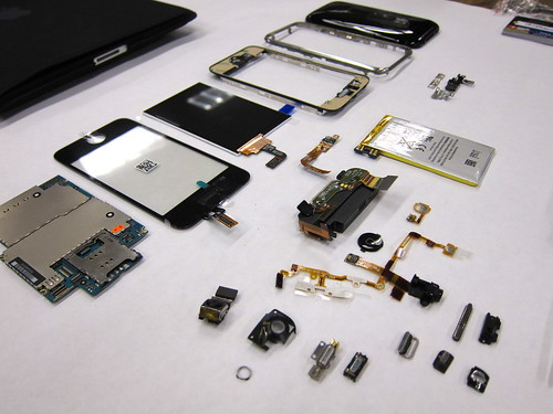 iPhone disassembled