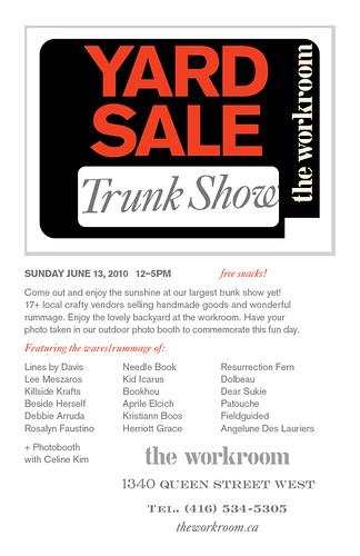 Yard Sale Trunk Show