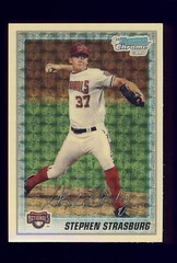 Strasburg Baseball Card Hot Seller In Ebay Auction We Love Dc