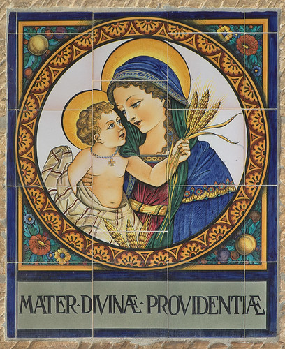 "Saint Meinrad Archabbey, in Saint Meinrad, Indiana, USA - ceramic tiles, ""Mater Divinæ Providentiæ"""