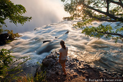 Edge of the Earth (Burrard-Lucas Wildlife Photography) Tags: sunset water river waterfall flood victoria falls spray victoriafalls zambia zambezi