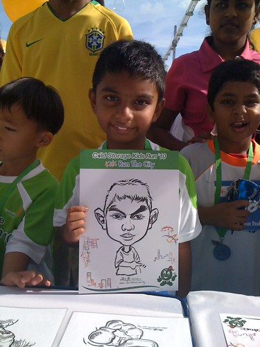 caricature live sketching for Cold Storage Kids Run 2010 - 2
