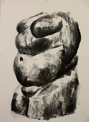 IMG_5183 (Penny R Wilson) Tags: sculpture drawings charcoal figurative femaleform abject observational