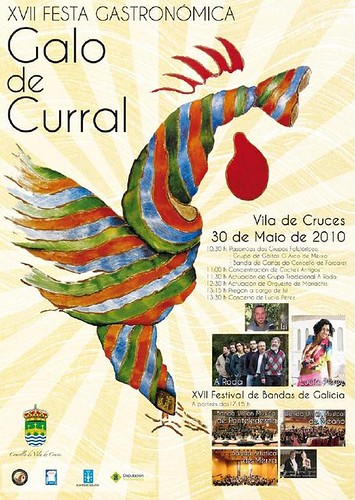 Vila de Cruces 2010 Galo de curral - cartel
