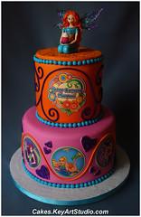 Winx Club Fairy Cake - Bloom (Cakes.KeyArtStudio.com) Tags: sculpture girl cake club wings fairy bloom figurine redhair fondant winx sugarpaste larissavolnitskaia