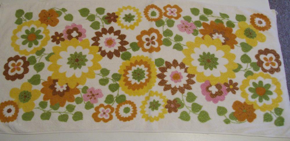 Vintage Floral Towel