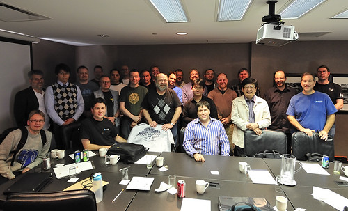 Group picture of PostgreSQL developers, Ottawa 2010