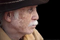 May 31, 2010 (Fabio Mandrioli  Photography) Tags: old portrait man face look hat closeup scarf nose cowboy may lips fabio 365 mustache oriental 2010  mandrioli fabiomandrioli mandriolifabio authorsclub  053110