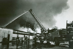 10-29-1973 Booths Corner Farmer's Market of Boothwyn, Pennsylvania -  FIRE (Timothy Wildey) Tags: 257 ladder25 boothscorner talleyvilefirecompany boothscornerfarmersmarket firesnnc