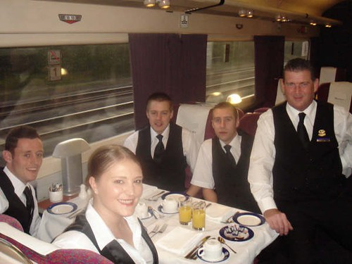 Catering Staff for a Private Charter Train