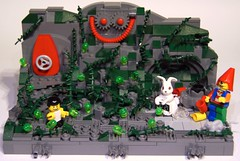 the Mad Tea Party (Bart De Dobbelaer) Tags: party white rabbit lego tea alice chibi atlantis mad wonderland vignette hatter clumsypete