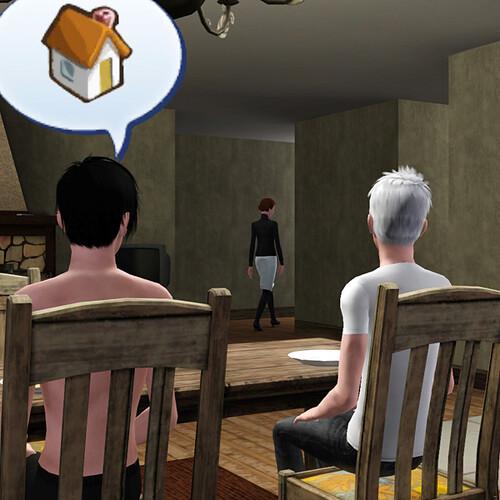 Aaron and Ghost watch Lauren