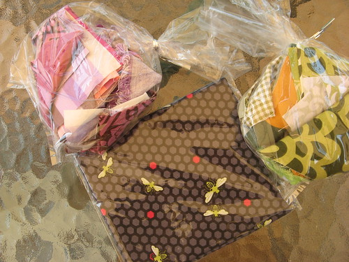 Goodies from NOLA modern quilt guild meeting