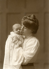 Mother and daughter (lovedaylemon) Tags: baby history sepia vintage found photography 1 photographer album mother 1912 southwold photohistory jenkins workington peggie