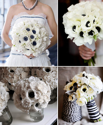 Looking for the perfect nautical wedding bouquet How about anemones