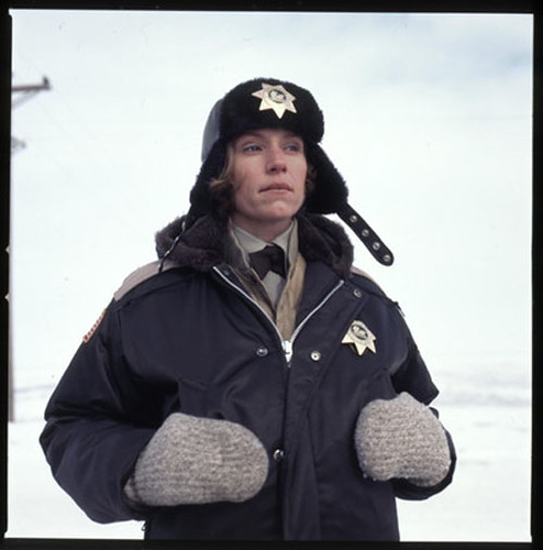 Frances McDormand as she appears in FARGO, 1996.