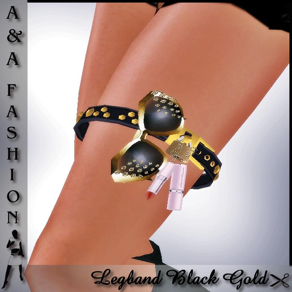 A&A Fashion Legband Black Gold