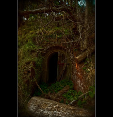 **WWII BUNKER** (~*THAT KID RICH*~) Tags: door nyc trees art abandoned nature forest ruins bricks wwii hidden bunker forgotten urbanexploration cave hdr urbex 50d viewonblack thatkidrich urbexjunkies richzoller wwiicompond richardzoeller