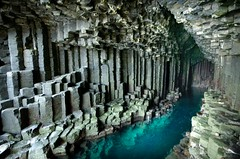 Fingal's Cave (gms) Tags: sea inspiration dark island scotland hexagonal cave isle staffa fingalscave mendelssohn fingal hebridesoverture