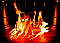 Jager Bomb! (N8TIVE PHOTOGRAPHY) Tags: paris glass bar club night jack fire glasses flame liquor alcohol jagermeister jager