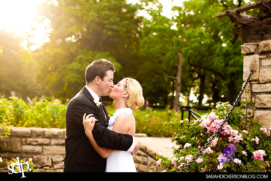 Loose Park, Kansas City Missouri wedding images