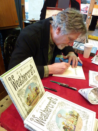 Jim Woodring signs Weathercraft at Fantagraphics Bookstore & Gallery, May 22, 2010