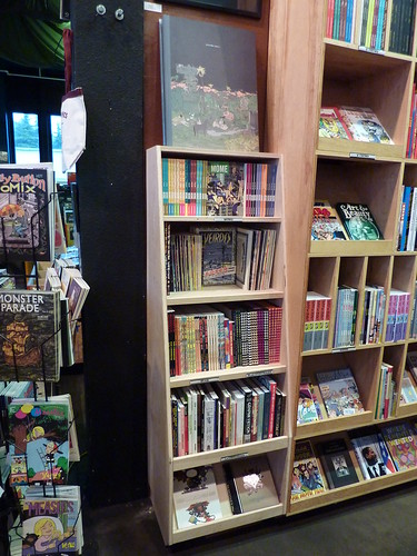 The new anthology shelf at Fantagraphics Bookstore & Gallery