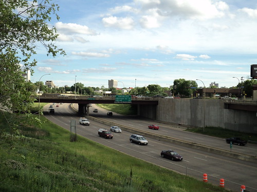 35W Facing South Toward Hennepin Ave Bridge