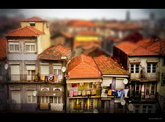 A study in Balconies - Tilt (RiaPereira - here and there) Tags: portugal porto balconies charming itsasmallworld satellitedish miniatureworld porches tiltshift toytown tiltshiftphotography miniscene canontiltshift magicunicornverybest riapereira