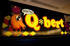 Q*bert (little fern photography) Tags: show seattle fire jump nw shoot northwest buttons arcade hobby joystick retro videogames 80s button pacificnorthwest videogame hobbies qbert highscore gameroom pacificnw arcadegame gottlieb arcardes nwpinballandgameroomshow