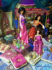 Relaxing in the harem (partydolly) Tags: girls art scale fashion one miniatures doll pics furniture room indian 4 barbie rosa accessories dynamite rement sixth decor eastern harem diorama dollhouse bratz zodiak silkstone playscale partydolly