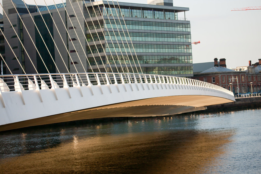 The Samuel Beckett Bridge is a cable-stayed bridge in Dublin
