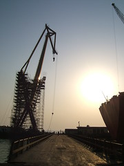 Evening as ASRY Yard (Gunnar the Grey) Tags: yard bahrain manama odfjell asry