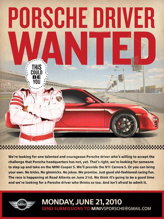 Porsche Driver Wanted