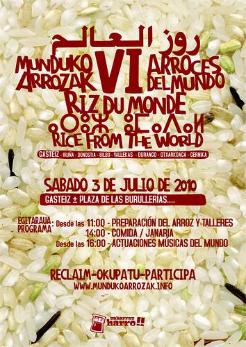 Cartel Munduko Arrozak Gasteiz 2010