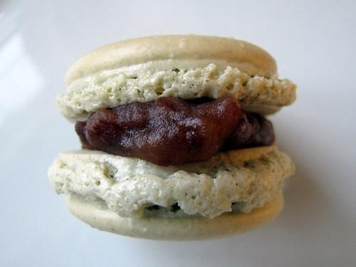 Matcha Macaron with Sweet Azuki Filling
