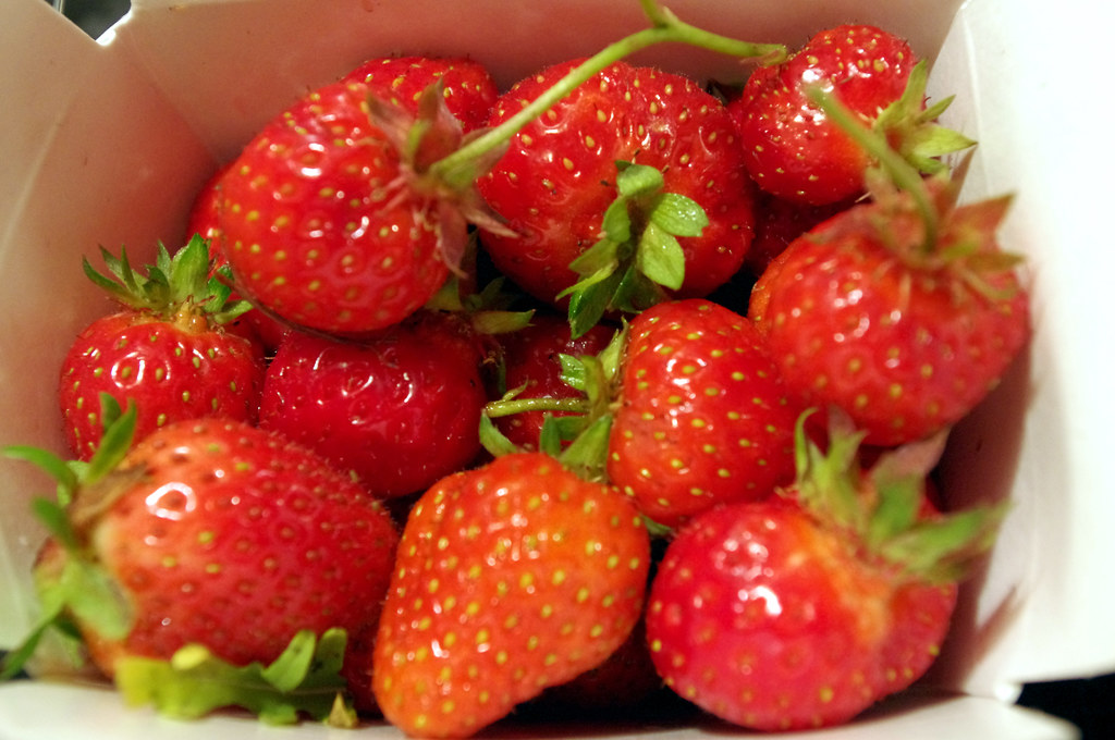 Strawberries from CSA