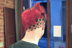 black/red squares (wip-hairport) Tags: red black color portugal hair lisboa lisbon hairdresser hairsalon dye haircolour hairdesign hairport wiphairport