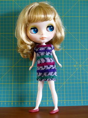 Summer in knitted dress