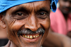 Stained Teeth (AdamCohn) Tags: red man stain teeth dental gums mining stained oral srilanka nut mustache care gems hygiene gem miners betel betelnut adamcohn wwwadamcohncom ambalanpitya