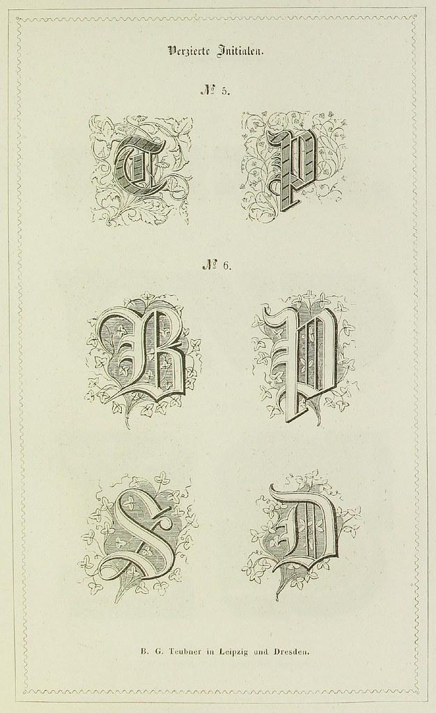 Schrift- und Polytypen-Proben BG Teubner, 1846 b