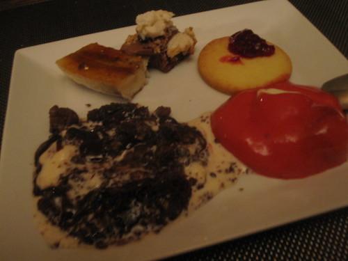 My plate of dessert
