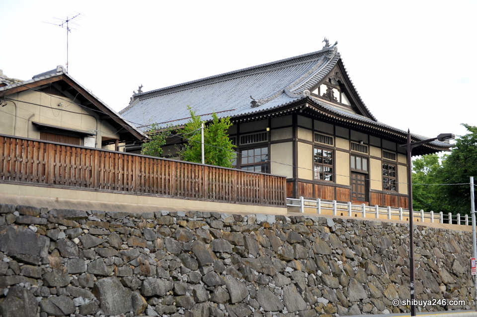 One of the buildings inside the Kofu Castle compound.