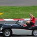 F1 Drivers Parade: Felipe Massa in an Austin Healey