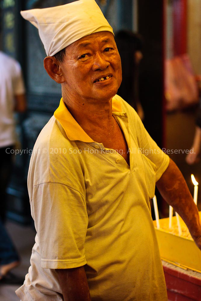 Worker @ Nine Emperor Gods Festival, Ampang, Malaysia