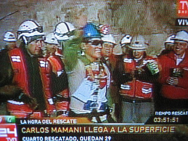 minero Boliviano Carlos Mamani alegría