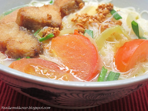 Fish fillet Mee Hoon soup (rice vermicelli noodle soup) 鱼肉米粉