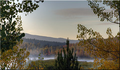Dawn on the Snake River (Jill Clardy) Tags: park autumn fall sunrise river dawn golden bend snake grand national aspens wyoming tetons oxbow quaking 4547